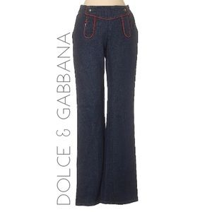 Dolce & Gabanna Sailor mid rise flare jeans 26 D&G